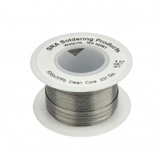 SRA No-Clean Flux Core Leaded Eutectic Solder 63/37, 0.020""